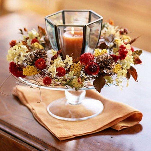 Осенний букет и свечи картинки