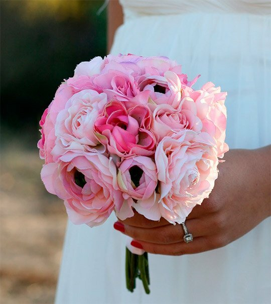 Миниатюрный розовый букет