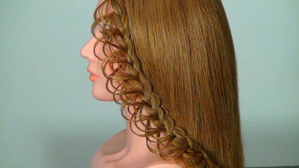 Как сделать косу из волос видео