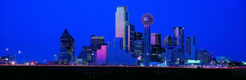 Даллас, панорама, ночь