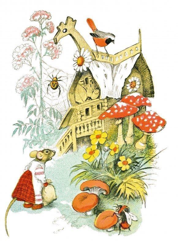 Открытка доброго, русские народные сказки открытки