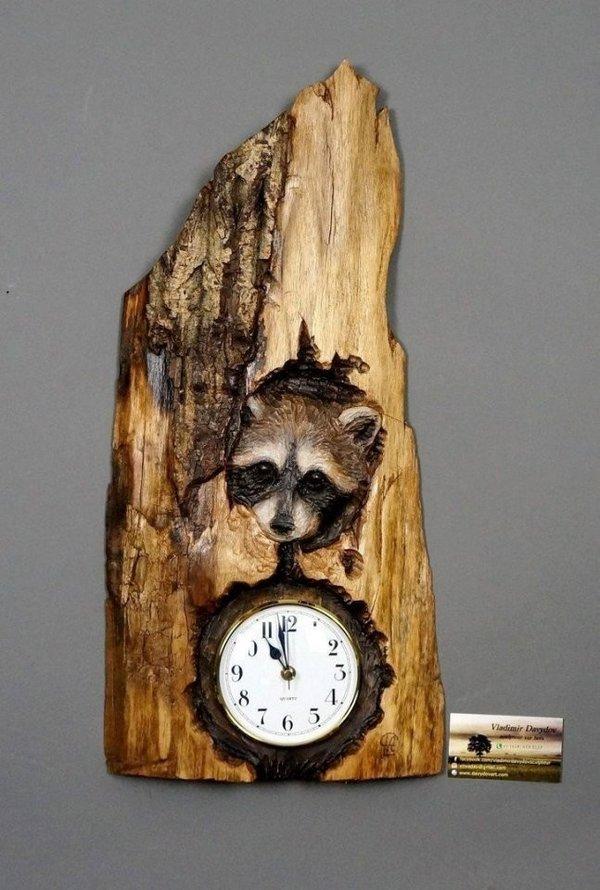 часы с картинкой енот самый экономичный