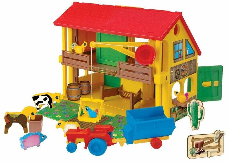 Wader - детские игрушки - машины, гаражи, дороги, конструкторы ... Wader - Домик фермера арт. 25450