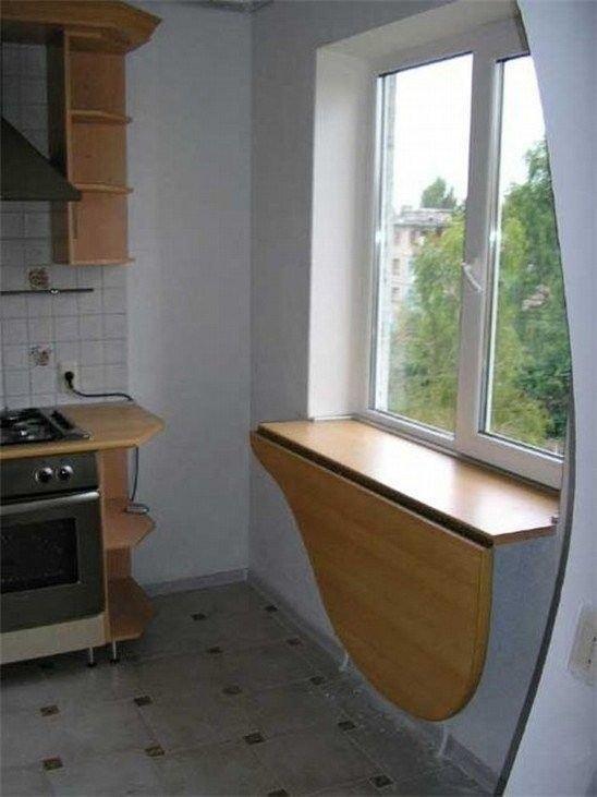 """Подоконник столешница на кухне фото стола оформление"""" - карт."""