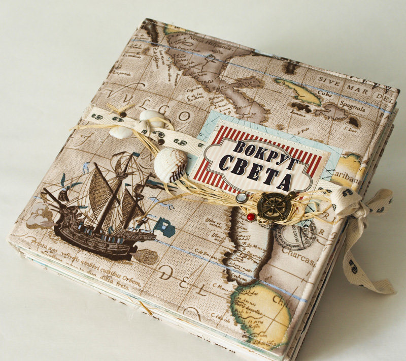 Скрапбукинг открытки тема путешествие