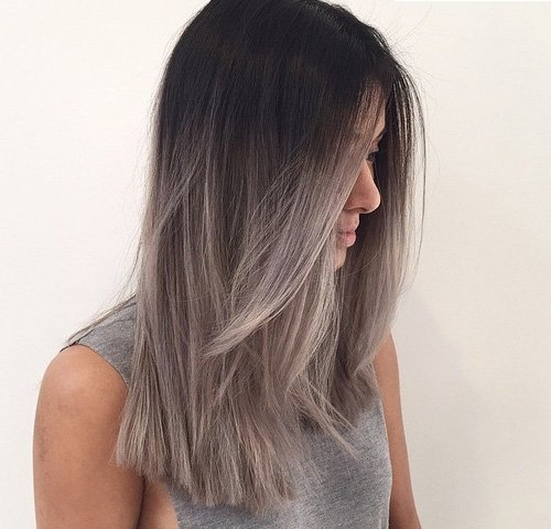Омбре фото на прямые волосы