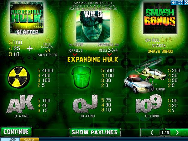ігрові автомати онлайн безкоштовно Халк