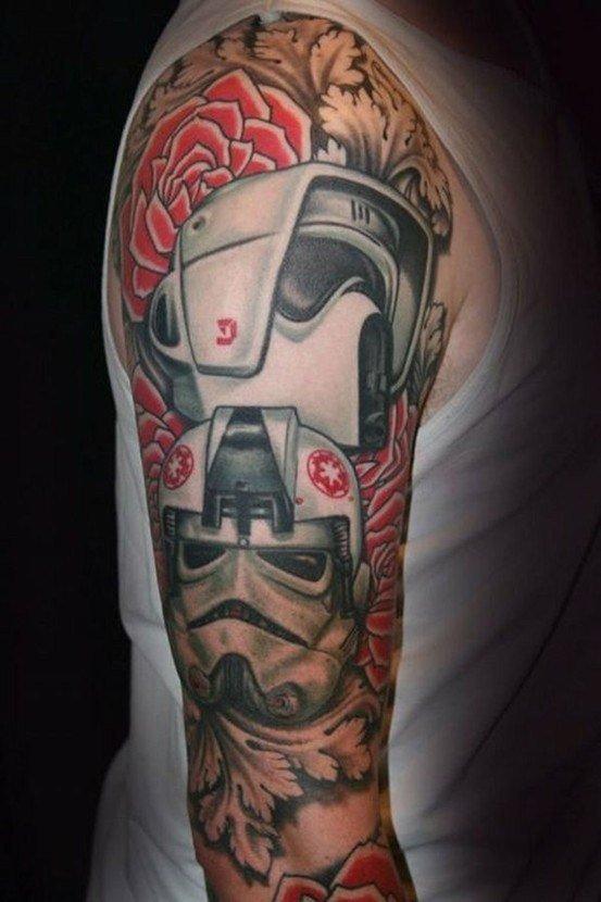 тату на плече связана со звездными войнами
