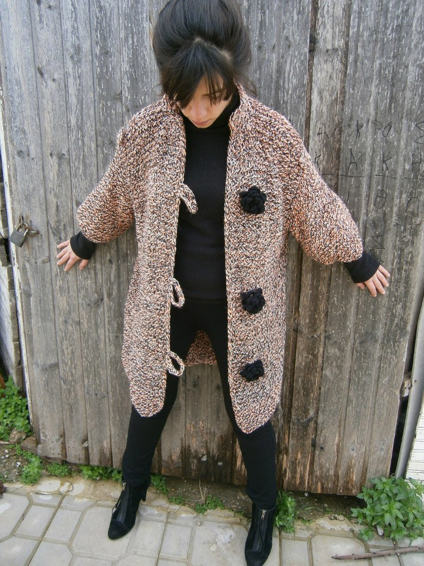 Пальто вязанное своими руками