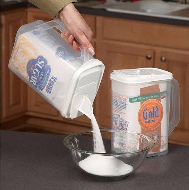 Диспенсер для сахара, муки, круп и других сыпучих продуктов