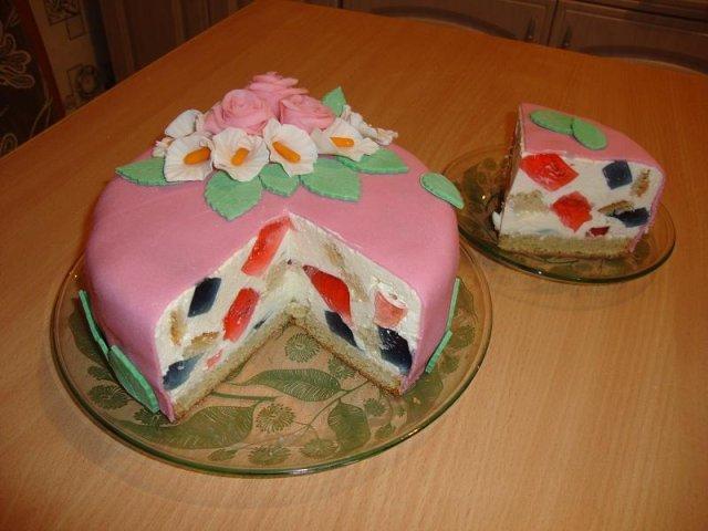 """Торт желейный """"битое стекло"""""""