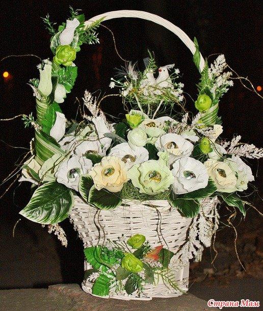 Корзина цветов своими руками фото 835