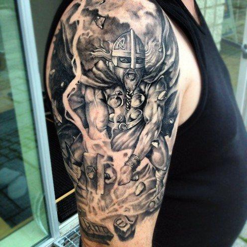 Iets Nieuws thors hammer tattoos - Google Search   Tattoo   Pinterest   Hammer #LP04