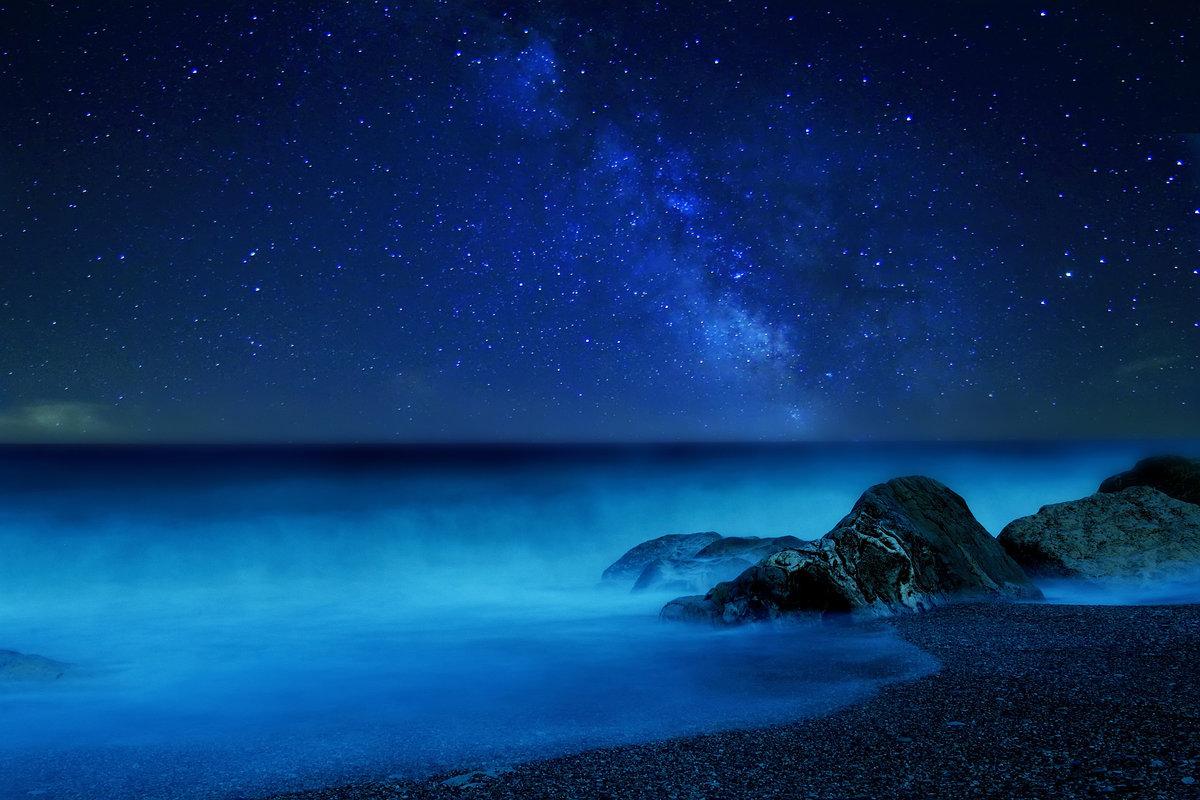 харрис, картинка ночное море и звезды блестящие платья пол
