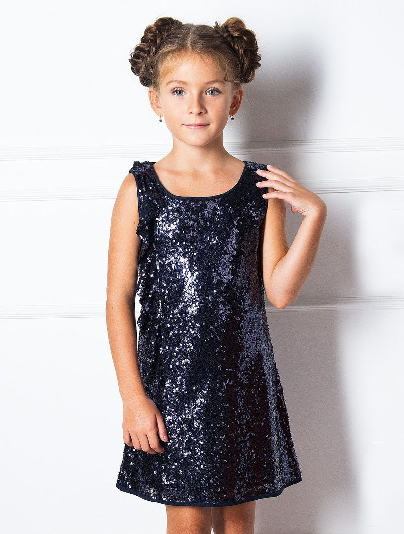 нарядное блестящее платье для девочки