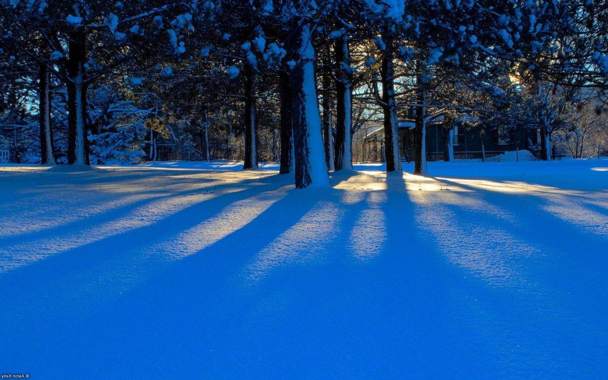 Картинка снежной поляны