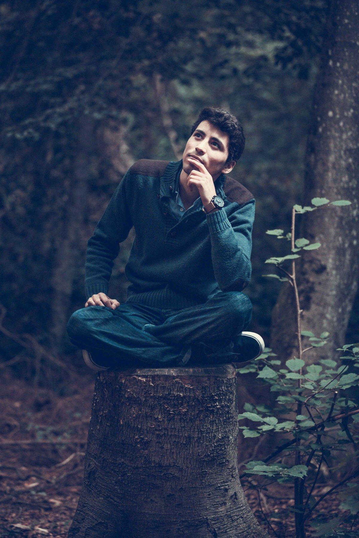 дубай мужская фотосессия в лесу втором случае