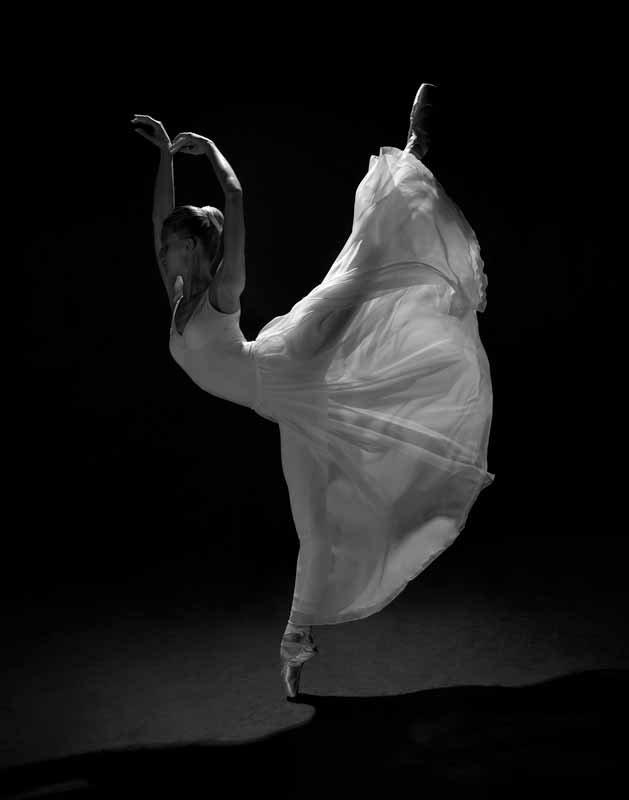 Балерина в длинном