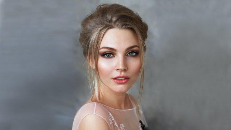 Свадебный макияж с эффектом стробинга