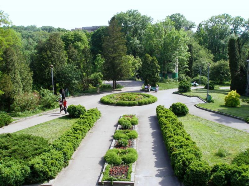 Ботанический сад с высоты.