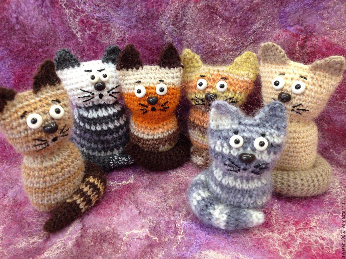 Вязание картинки кошки