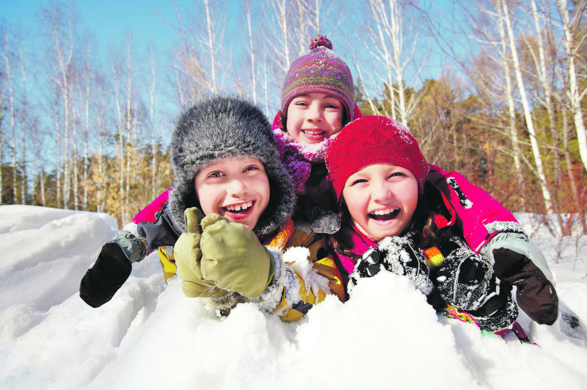 Поздравления для, картинки дети зима