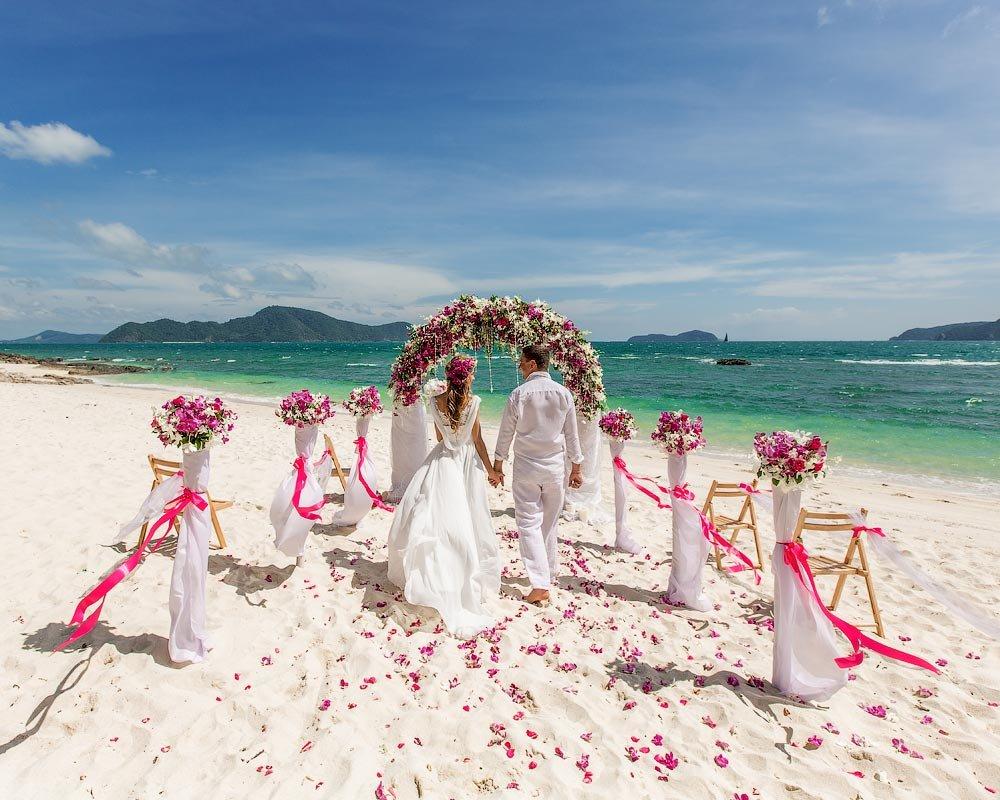 Свадьба на берегу моря фото