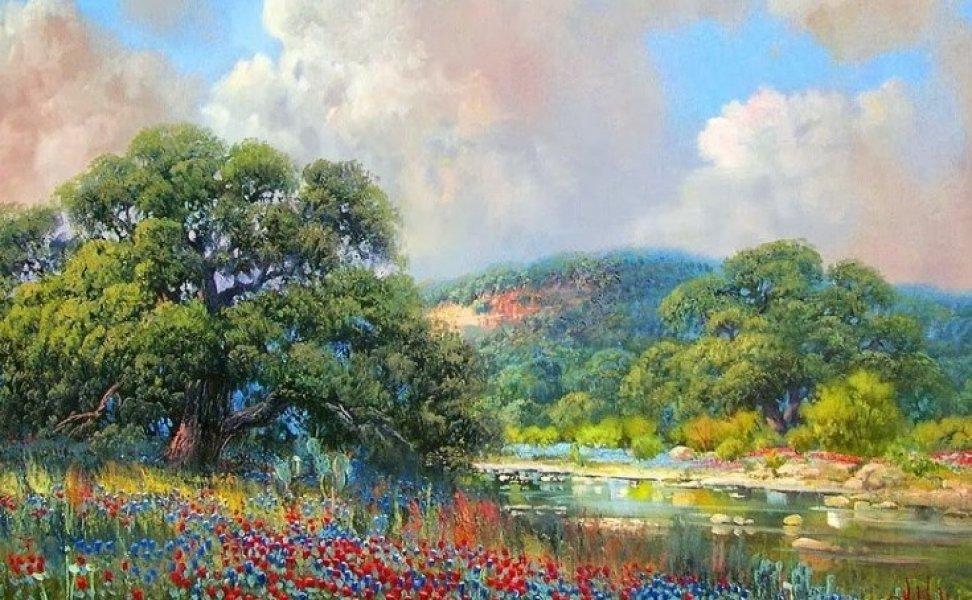 картины пейзажи художников мира картинки цветочный