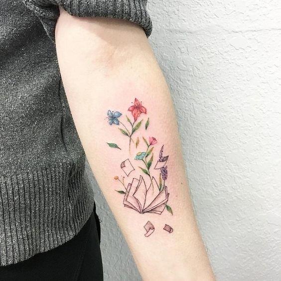 Модные татуировки для девушек на ноге (фото) 14