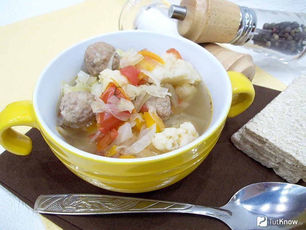 суп из цветной капусты с помидорами рецепт