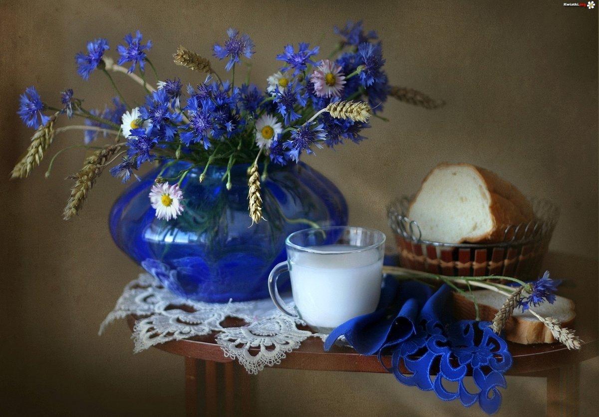Картинка с васильками с добрым утром, картинки анимация картинки