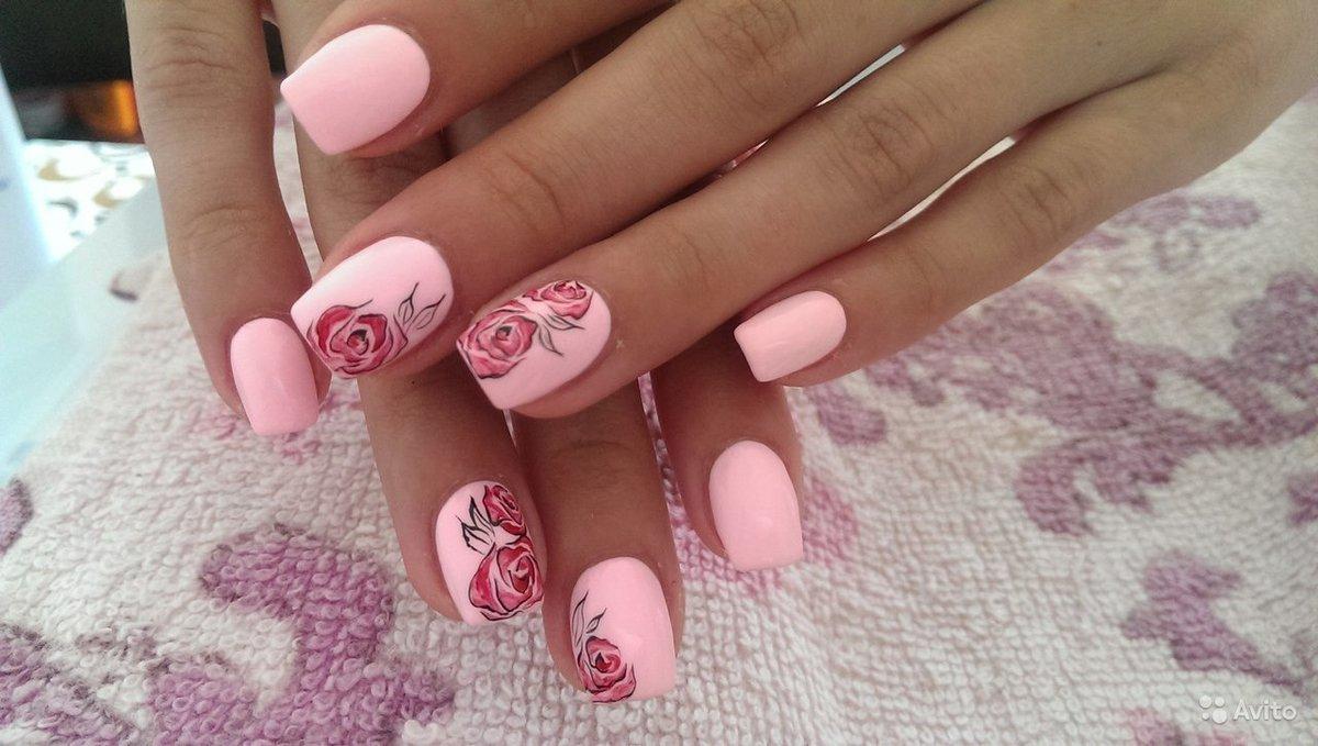 Педикюр В Розовых Тонах Фото