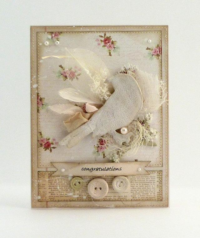 Скрапбукинг открытка с птичкой, картинки замужем