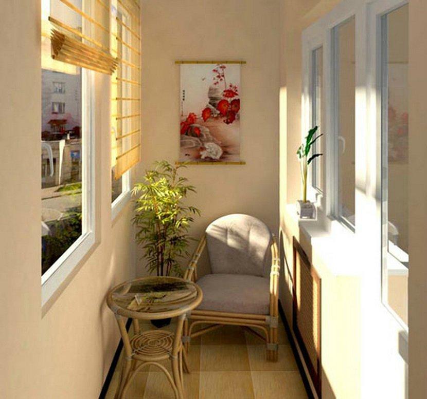 Плетенная мебель на балконе материалы для отделки балкона ht.