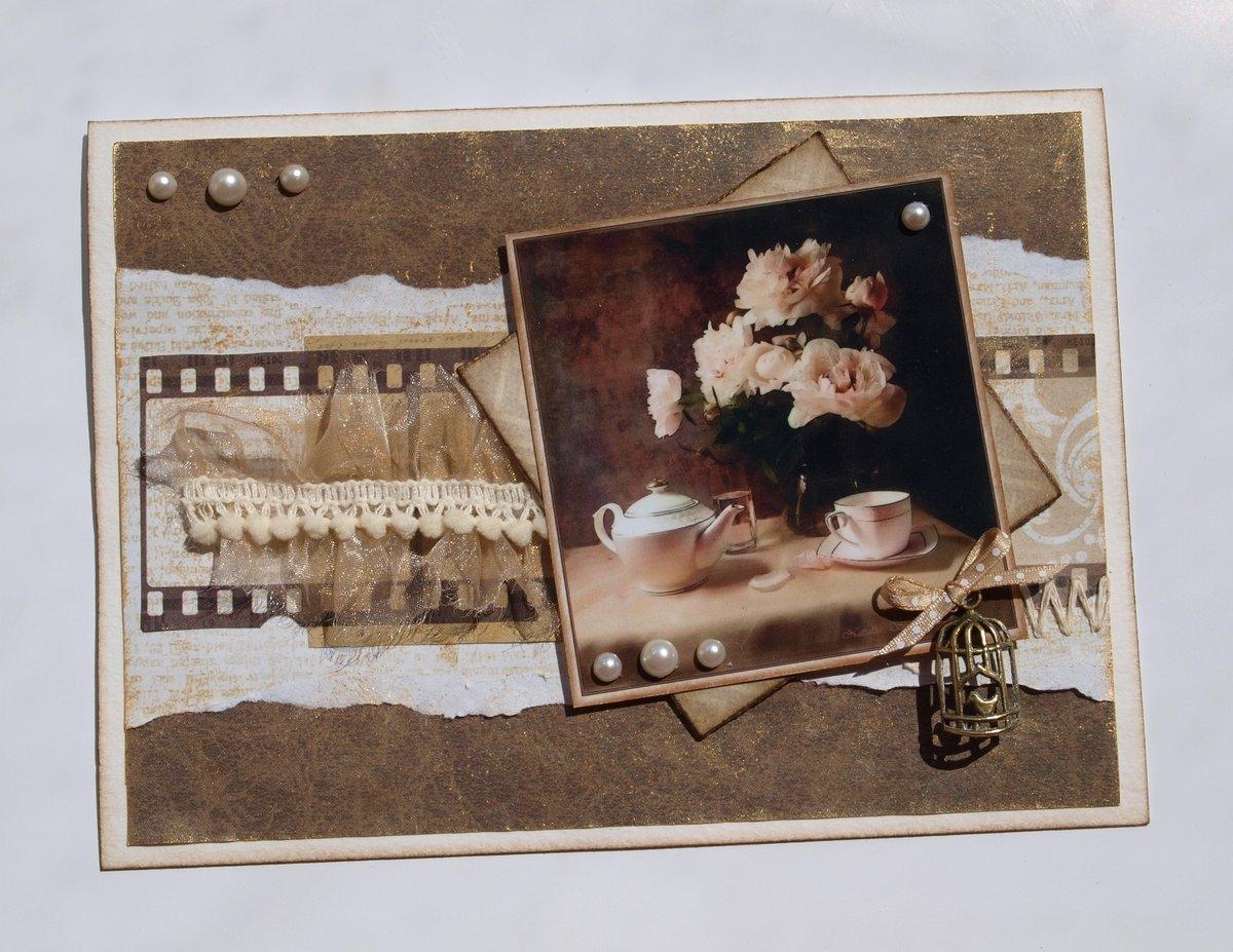 Коровки, открытки скрап в стиле винтаж