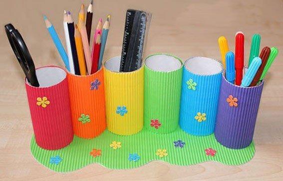 Подставка под карандаши своими руками из бумаги