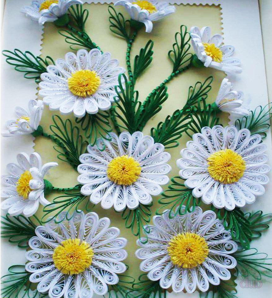 Картинки из квиллинга ромашки