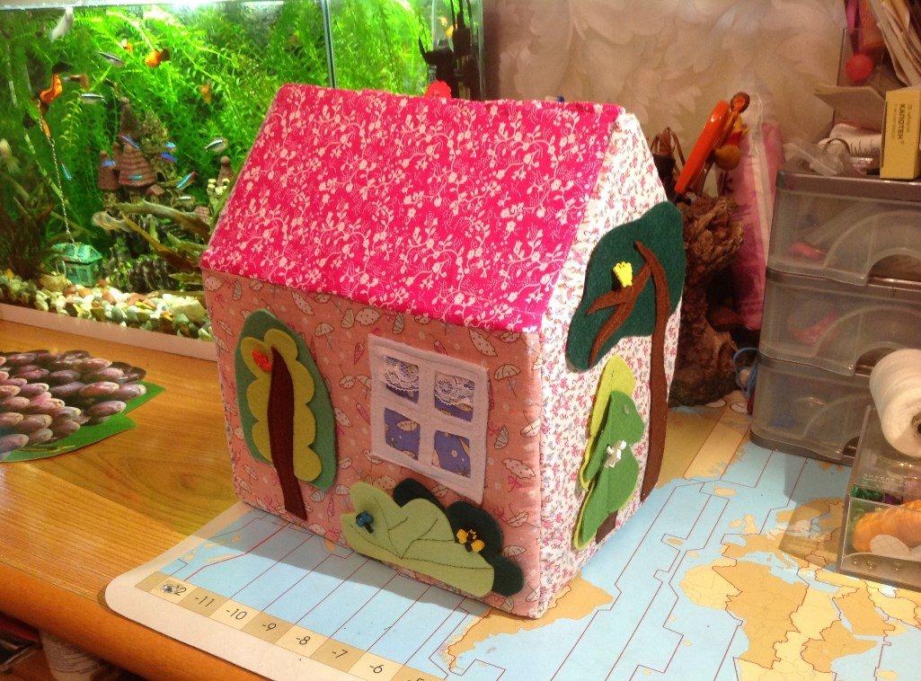 Кукольный домик своими руками из ткани 67