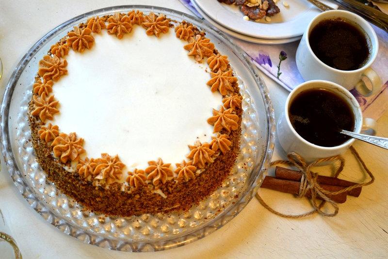 медовый торт со сгущенкой пошаговый рецепт с фото