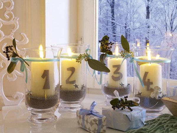 Свечи с цифрами