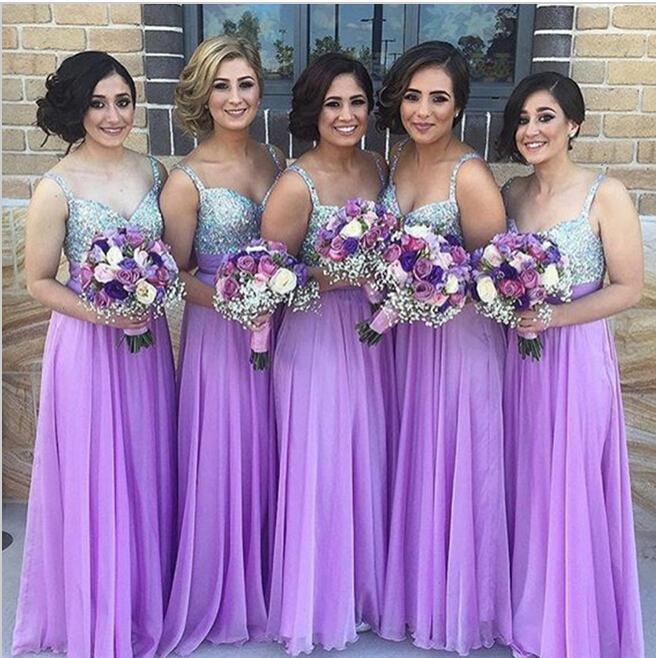 Платья подружек невесты фото сиреневый