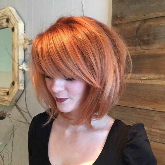 Фото каре с рыжими волосами