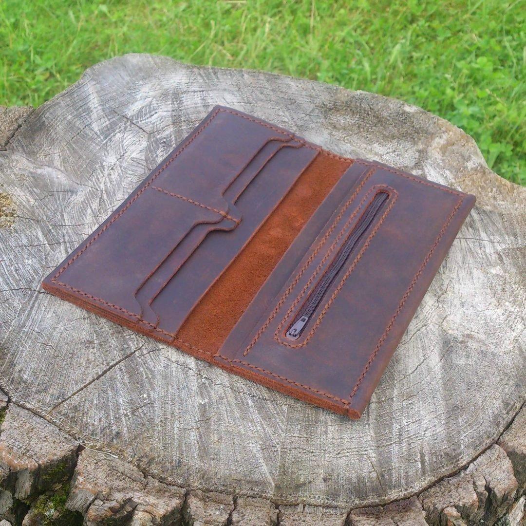 7ab13a71f66c ... Кошелек ручной работы из натуральной кожи - Большой. Купить оригинальный  и необычный подарок с индивидуальным