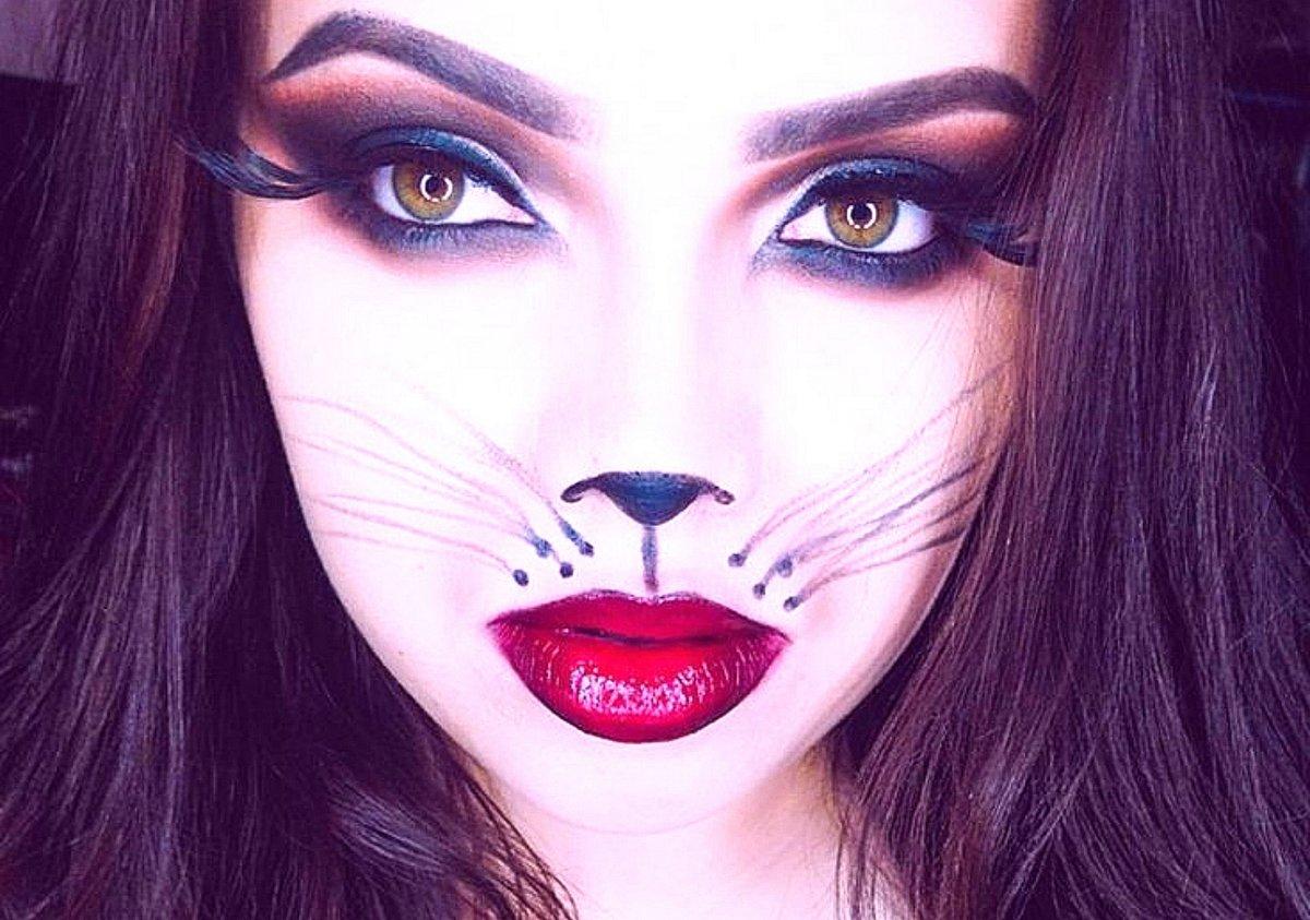 ангелов макияж для кошки картинки просто