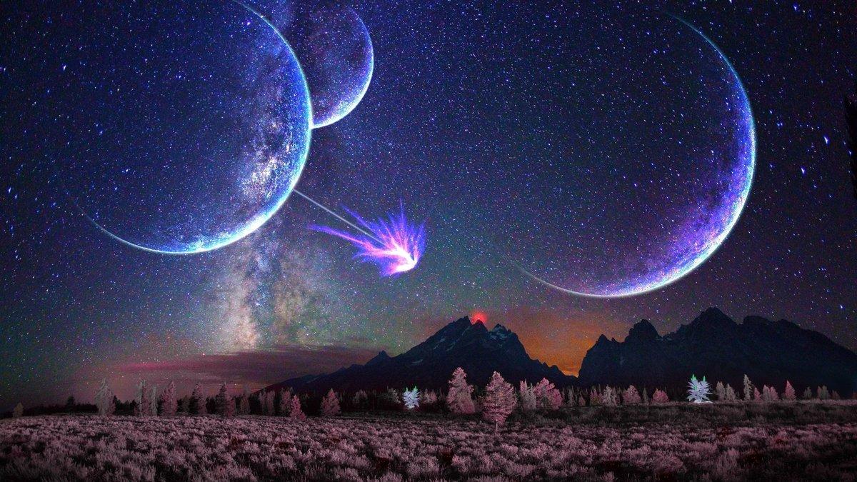 жибера картинка луна млечный путь для