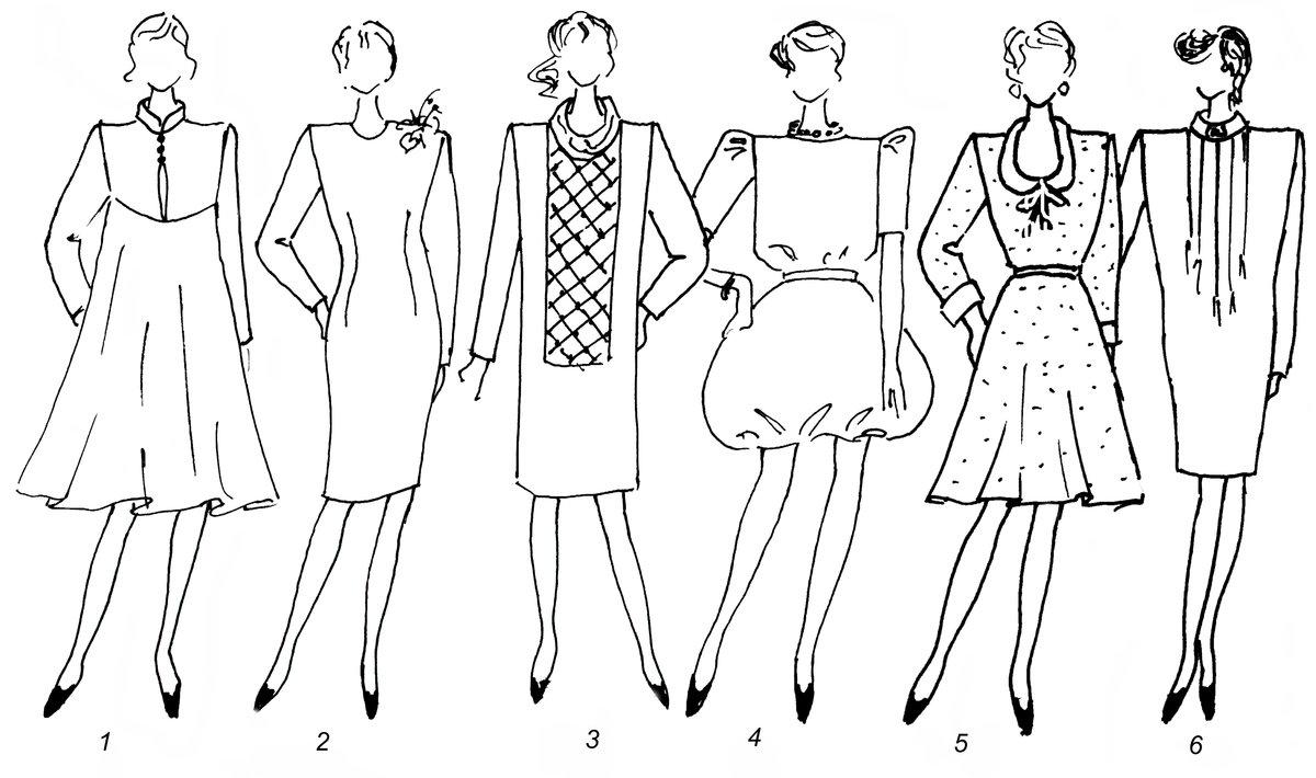 Образцы платья с картинками