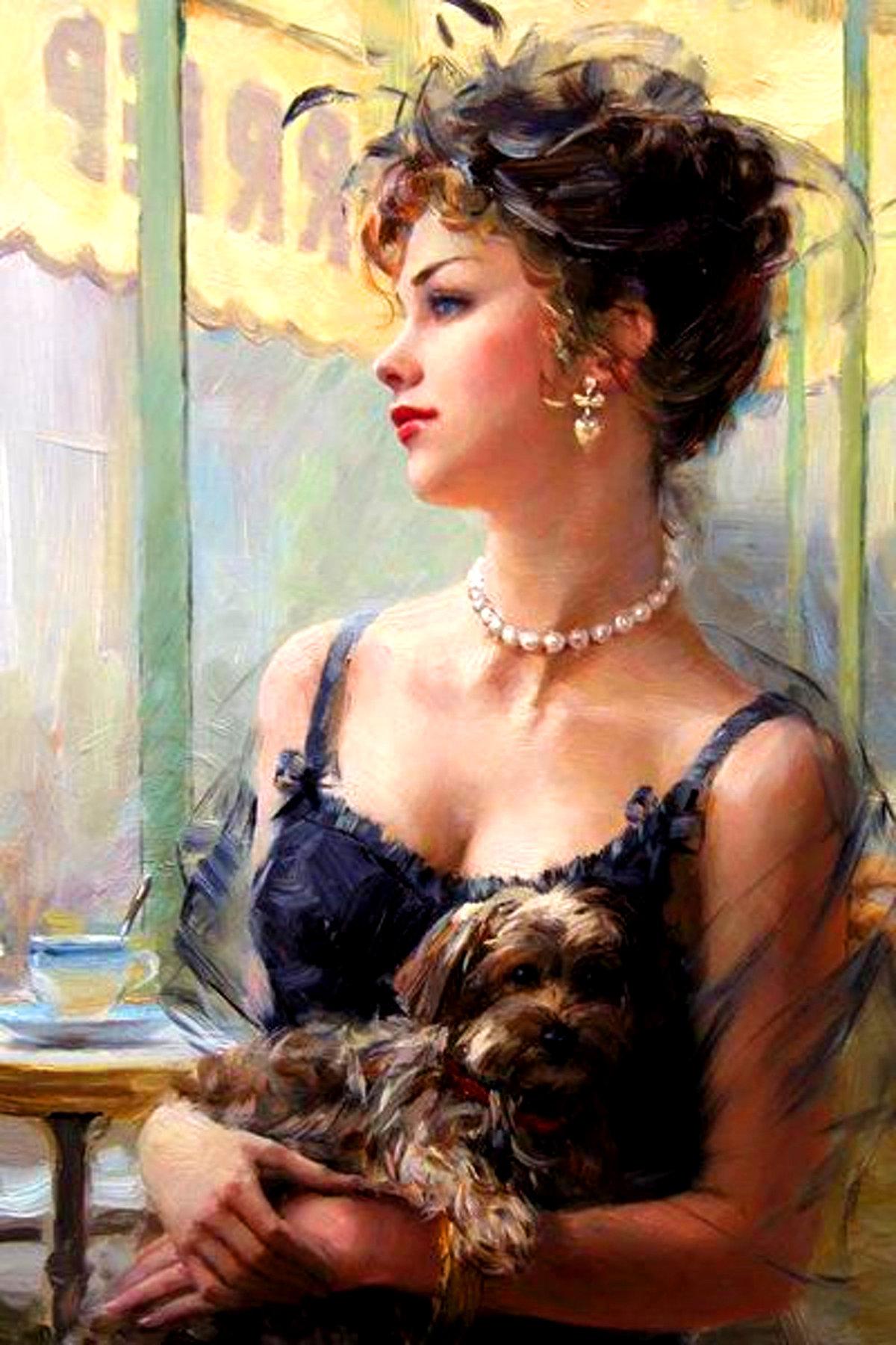 Открытки, красивые картинки с дамами
