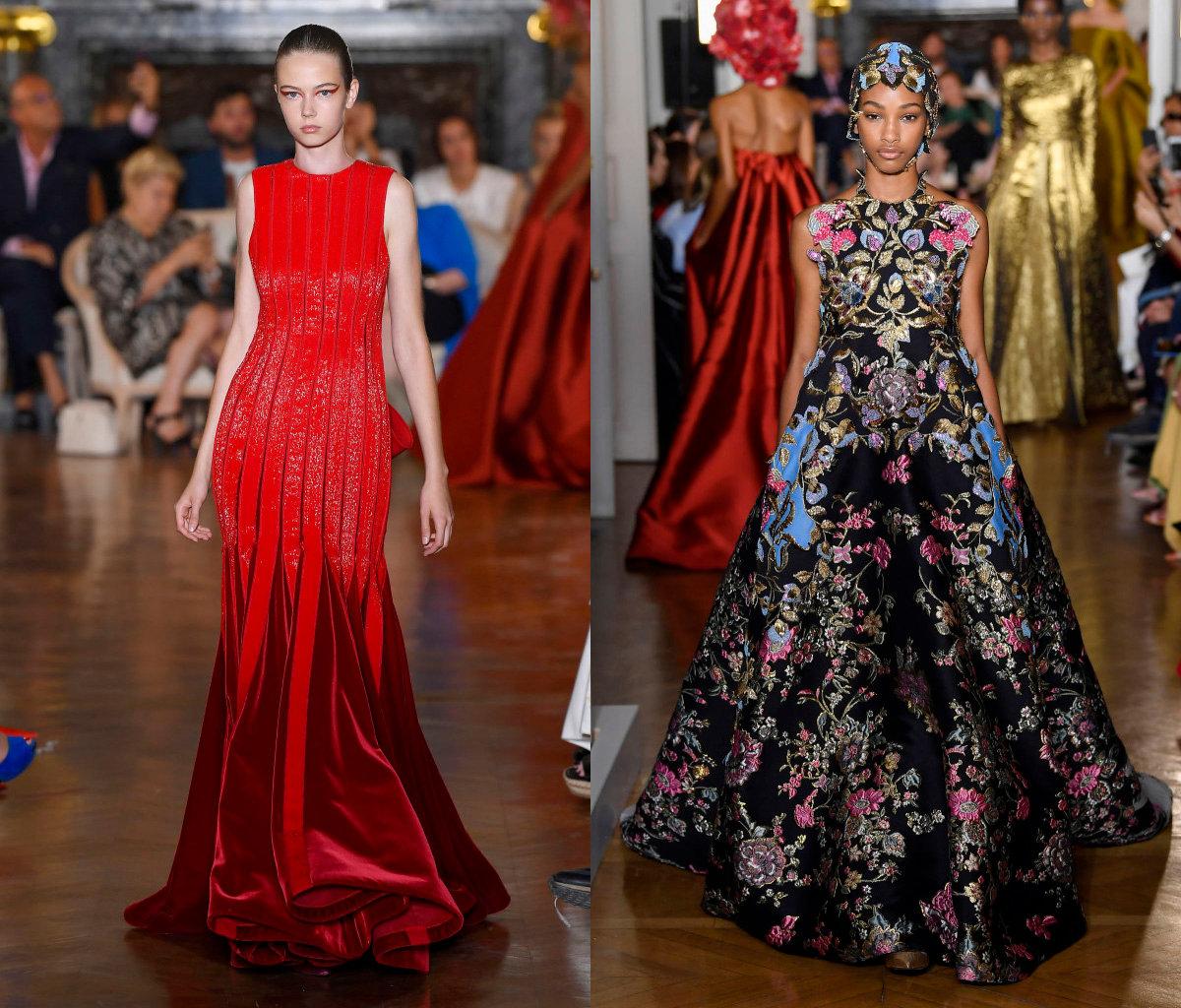 09ece0e866d ... Валентино Fall Couture 2018  мода на красивые вечерние платья в стиле  романтики и глэм-