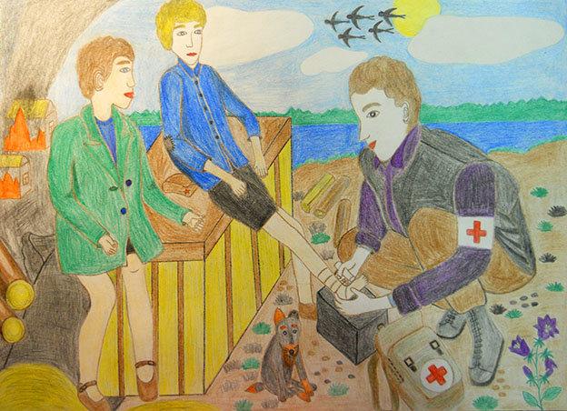 Рисунок с драматическим сюжетом 4 класс