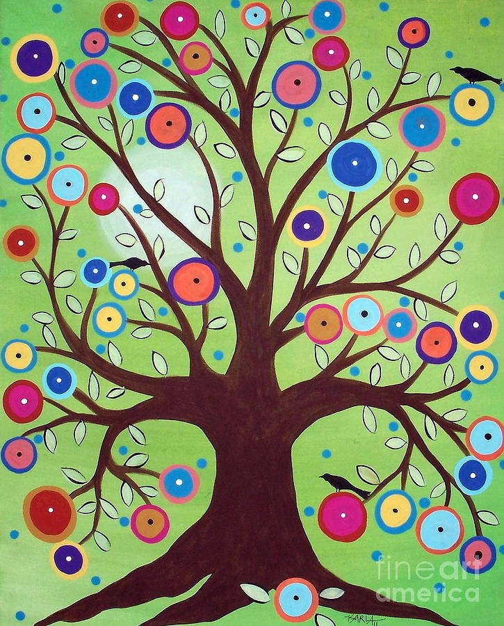 рисунок сказочные деревья является украшением